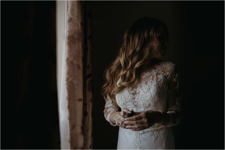 Bridal portrait at Ferry House Inn